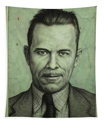 Tapestry featuring the painting John Dillinger by James W Johnson
