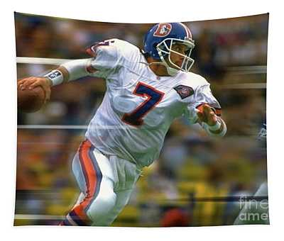 John Elway, Number 7, Quarterback, Denver Broncos Tapestry