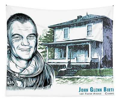 John Glenn Birthplace Tapestry