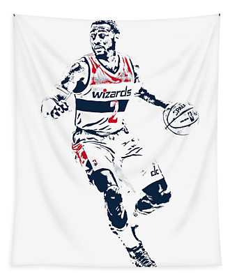 John Wall Washington Wizards Pixel Art 1 Tapestry