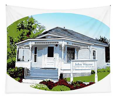 John Wayne Home Tapestry