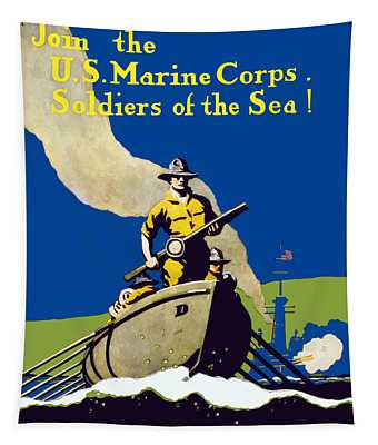 Join The Us Marines Corps Tapestry
