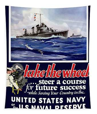Join The Us Navy - Ww2 Tapestry