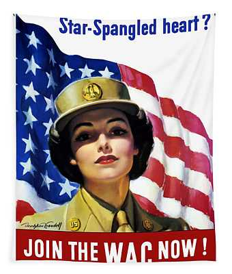 Join The Wac Now - World War Two Tapestry