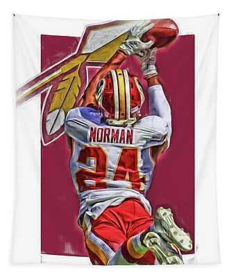 Josh Norman Washington Redskins Oil Art Tapestry