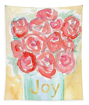 Joyful Roses- Art By Linda Woods Tapestry
