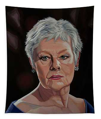 Judi Dench Painting Tapestry