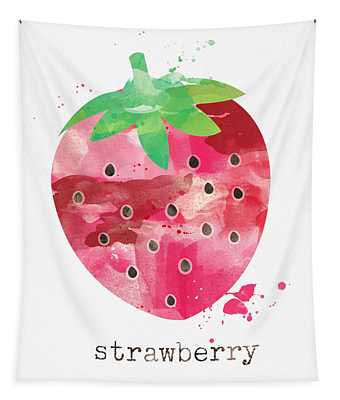 Juicy Strawberry Tapestry