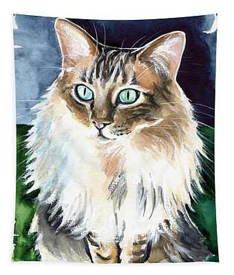 Juju - Cashmere Bengal Cat Painting Tapestry