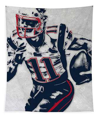 Julian Edelman New England Patriots Pixel Art 4 Tapestry