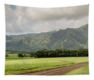 Jurassic Kahili Ranch Panorama Tapestry