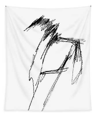 Just A Horse Sketch Tapestry