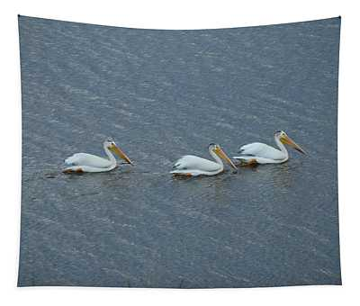 Triple Pelicans Lake John Swa Co Tapestry