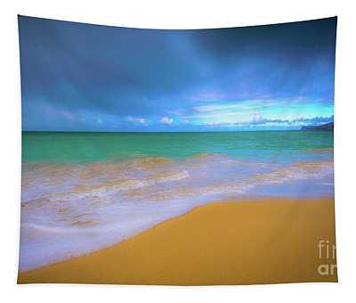 Seascape, Kailua - Lanikai, Oahu, Hawaii Tapestry