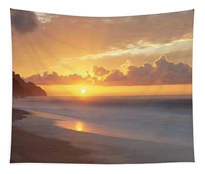 Kalalau Beach Sunset, Na Pali Coast Tapestry