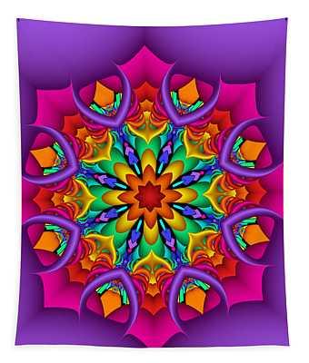 Kaleidoscope Flower 01 Tapestry