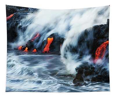 Kamokuna Lava Ocean Entry, 2016 Tapestry