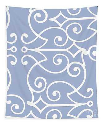 Kasbah Blue Arabesque Tapestry