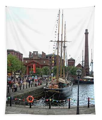 Kathleen And May Schooner Tapestry