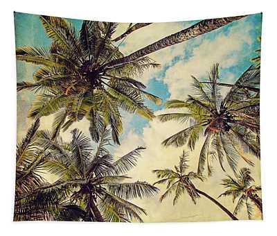 Kauai Island Palms - Blue Hawaii Photography Tapestry