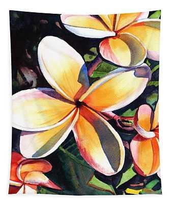 Kauai Rainbow Plumeria Tapestry