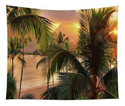 Olena Art Kauai Tropical Island View Tapestry