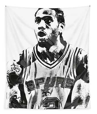 Kawhi Leonard San Antonio Spurs Pixel Art 4 Tapestry