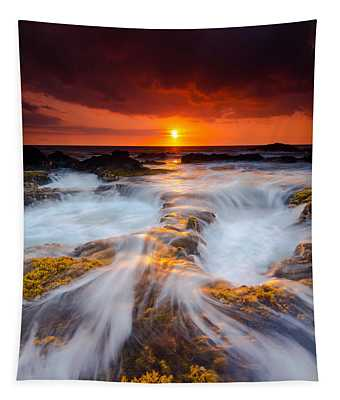 Keahole Point Sunset Tapestry