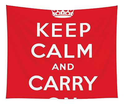 Keep Calm And Carry On Wall Tapestries