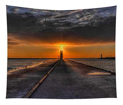 Kenosha Lighthouse Beacon Tapestry