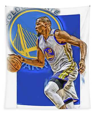 Kevin Durant Golden State Warriors Oil Art Tapestry