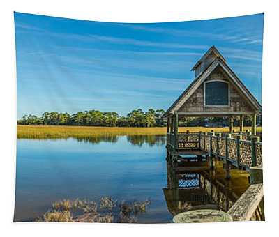 Kiawah Island Boathouse Panoramic Tapestry