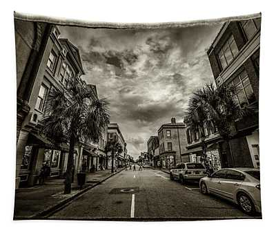 King St. Storm Clouds Charleston Sc Tapestry
