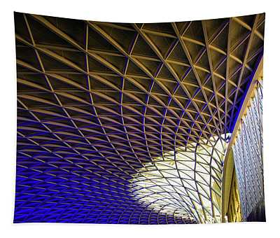 Tapestry featuring the photograph Kings Cross Railway Station Roof by Matthias Hauser