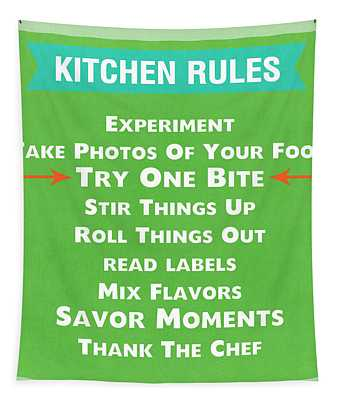 Kitchen Rules Tapestry