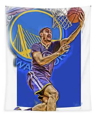Klay Thompson Golden State Warriors Oil Art Tapestry