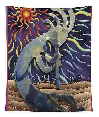 Kokopelli Spring Tapestry