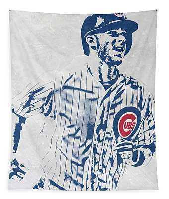 kris bryant CHICAGO CUBS PIXEL ART 2 Tapestry