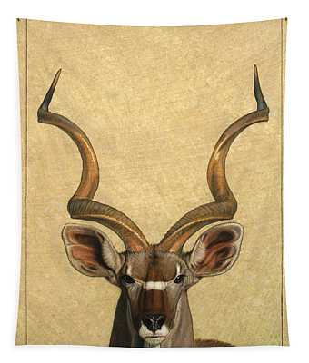 Tapestry featuring the painting Kudu by James W Johnson