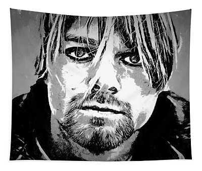 Kurt Cobain Charcoal Tapestry