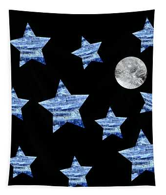 Kyanite Stars Under A Crystal Moon Tapestry