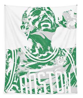 Kyrie Irving Boston Celtics Pixel Art 41 Tapestry