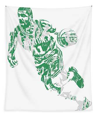 Kyrie Irving Boston Celtics Pixel Art 9 Tapestry
