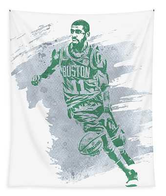 Kyrie Irving Boston Celtics Water Color Art 3 Tapestry
