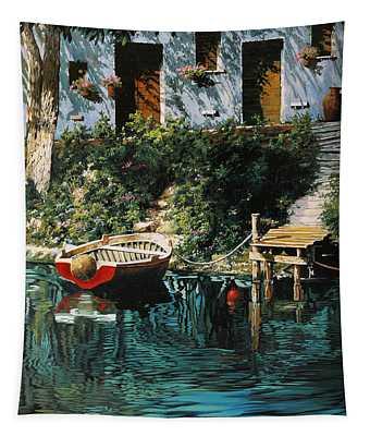 La Barca Al Molo Tapestry