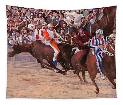 La Corsa Del Palio Tapestry