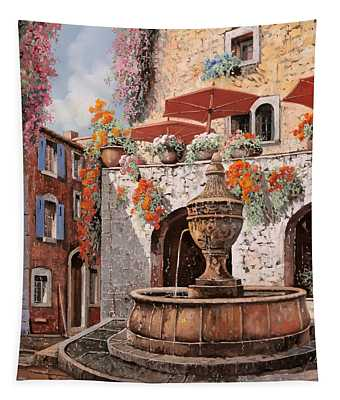 la fontana a St Paul de Vence Tapestry