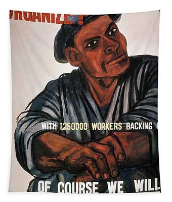 Tapestry featuring the photograph Labor Poster, 1930s by Granger