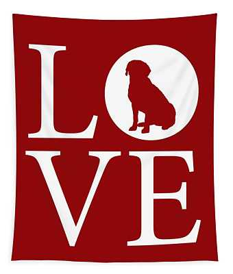 Labrador Love Red Tapestry