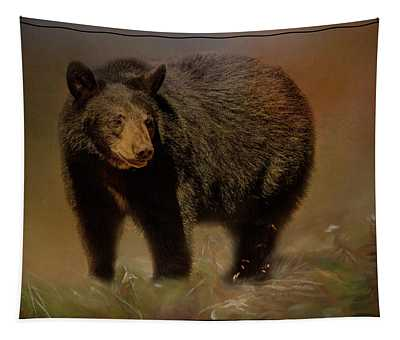 Black Bear In The Fall Tapestry